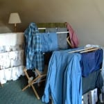 wooden folding clothes drying rack