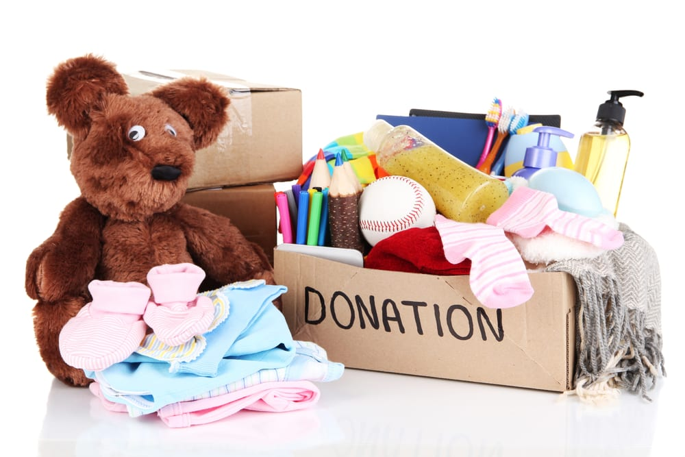 Remember to donate items to charity and not to put them in the garbage.